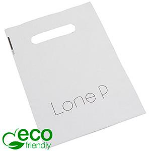 Stevige plastic draagtasjes met logo, klein