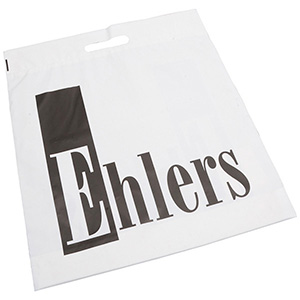 Branded plastic carrier bags, large