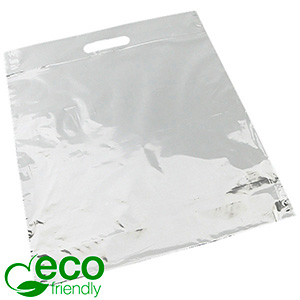 Branded carrier bags in sturdy plastic, large