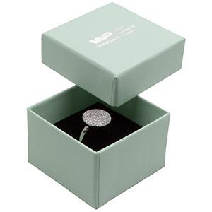 Bulk buy -  Boston box for ring Mint green cardboard / Black foam 50 x 50 x 32 (44 x 44 x 30 mm)