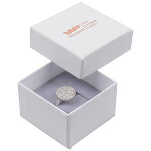 Grootverpakking -  Santiago doosje voor ring Wit Karton / Grijs foam 50 x 50 x 32 (44 x 44 x 30 mm)