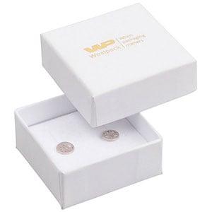 Großeinkauf -  Santiago Schachtel für Ohrringe Weißer Karton / Weißer Einsatz 50 x 50 x 22 (44 x 44 x 20 mm)