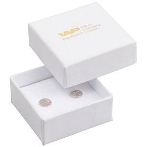 Storkøb -  Santiago smykkeæske øreringe/ørestikker Hvid karton / Hvid skumindsats 50 x 50 x 22 (44 x 44 x 20 mm)