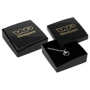 Bulk buy -  Copenhagen box for earrings / pendant Black lid, black base / Black foam 60 x 60 x 21