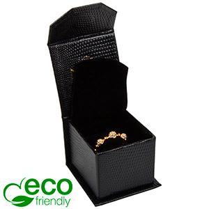 Nice ECO Jewellery Box for Ring Black Croco Leatherette Cardboard/ Black Foam 47 x 52 x 39 (39 x 46 x 34 mm)