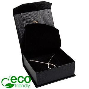 Nice ECO Jewellery Box for Bangle/Pendant/Earrings Black Croco Leatherette Cardboard/ Black Foam 85 x 81 x 32 (78 x 73 x 29 mm)