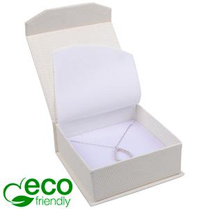 Nice ECO Jewellery Box for Bangle/Pendant/Earrings Cream Croco Leatherette Cardboard/ White Foam 85 x 81 x 32 (78 x 73 x 29 mm)