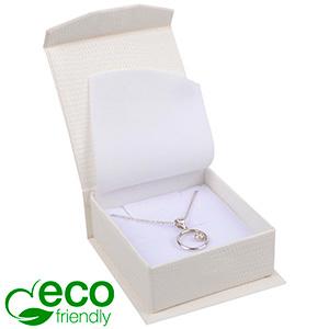 Nice ECO smyckesask till Örhänge/Hänge Creme kartong/Vit skuminsats 65 x 70 x 27 (57 x 64 x 24 mm)