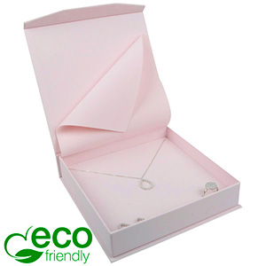 Milano ECO Jewellery Box for Necklace Rose Soft-Touch Cardboard / Rose Foam 165 x 165 x 35 (159 x 159 x 24 mm)