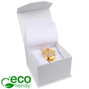 Milano ECO Jewellery Box for Watch White Soft-Touch Cardboard/White Foam 100 x 100 x 70 (91 x 91 x 64 mm)