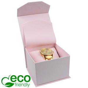 Milano ECO Jewellery Box for Watch Rose Soft-Touch Cardboard / Rose Foam 100 x 100 x 70 (91 x 91 x 64 mm)