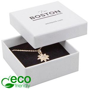 Boston ECO sieradendoosje voor oorbellen / hanger Wit FSC®-gecertificeerd karton/ Wit-zwart foam 65 x 65 x 25