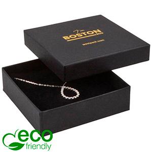 Boston ECO smykkeæske til halskæde / armbånd Mat sort FSC®-certificeret karton/ Sort skum 86 x 86 x 26