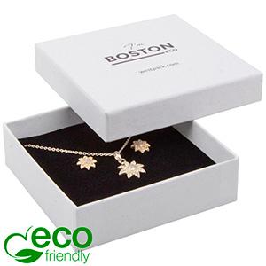 Boston ECO Jewellery Box for Large Pendant/ Bangle Grainy White FSC®-certified / White-Black Foam 86 x 86 x 26