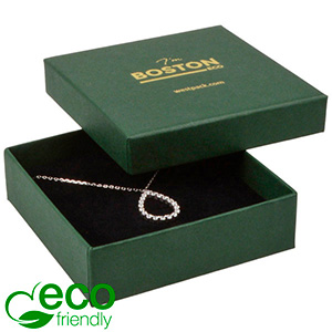 Boston ECO Jewellery Box for Large Pendant/ Bangle Dark Green FSC®-certified Cardboard/ Black Foam 86 x 86 x 26