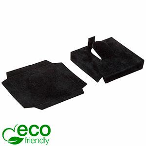 ECO Insats för ring Svart kartong med svart velourtoppskikt 44 x 44 x 7