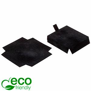 ECO Insats för örhänge Svart kartong med svart velourtoppskikt 44 x 44 x 10