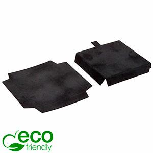 ECO Insats för långa örhängen/ hänge Svart kartong med svart velourtoppskikt 58 x 58 x 10