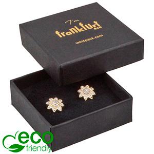 Frankfurt ECO smykkeæske til ring / øreringe Mat sort FSC®-certificeret karton/ Sort skum 50 x 50 x 17