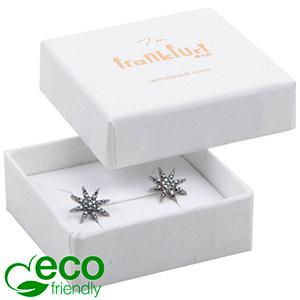 Frankfurt ECO ekstra flad smykkeæske til ring Hvid FSC®-certificeret karton / Hvid-sort skum 50 x 50 x 17