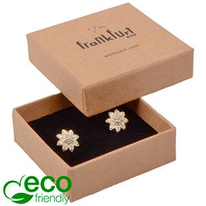 Frankfurt ECO smykkeæske til ring / øreringe Mat naturfarvet FSC®-certificeret karton/Sort skum 50 x 50 x 17