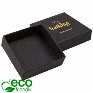 Frankfurt ECO sieradendoosje voor ring Mat zwart FSC®-gecertificeerd karton/ Zonder foam 50 x 50 x 17
