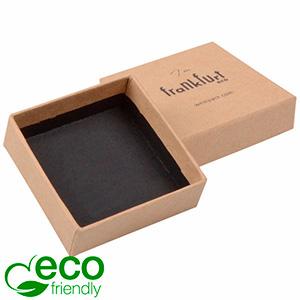 Frankfurt ECO sieradendoosje voor ring Naturel FSC®-gecertificeerd karton/ Zonder insert 50 x 50 x 17