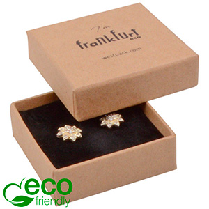 Frankfurt ECO Jewellery Box for Ring Brown FSC®-certified Cardboard / Cardboard insert 50 x 50 x 17
