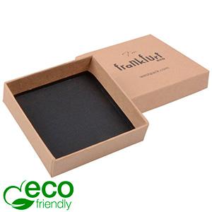 Frankfurt ECO Jewellery Box Drop Earrings/Pendant Brown FSC®-certified Cardboard / Without insert 65 x 65 x 17