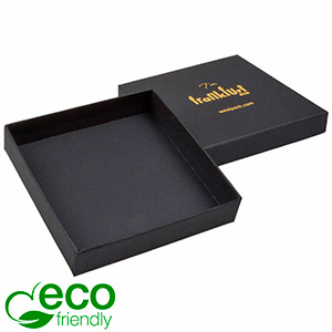 Frankfurt ECO Jewellery Box Large Pendant/ Bangle Matt Black FSC®-certified Cardboard/Without Insert 86 x 86 x 17