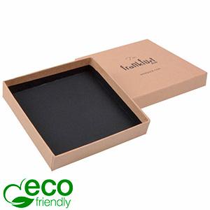 Frankfurt ECO Jewellery Box Large Pendant/ Bangle Brown FSC®-certified Cardboard / Without insert 86 x 86 x 17