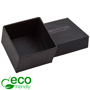 Boston ECO Jewellery Box for Ring Matt Black FSC®-certified Cardboard / Without Foam 50 x 50 x 32