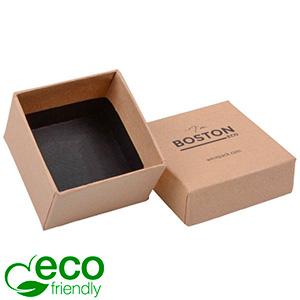 Boston ECO Jewellery Box for Ring Matt Brown FSC®-certified Cardboard / Without Foam 50 x 50 x 32