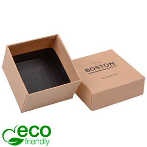 Boston ECO Jewellery Box for Ring Matt Brown FSC®-certified Cardboard / Without Foam 50 x 50 x 32