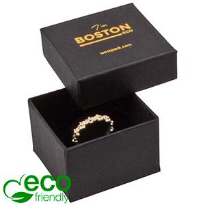 Boston ECO sieradendoosje voor ring Mat zwart FSC®-gecertificeerd karton/ Karton inleg 50 x 50 x 32