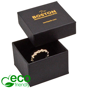 Boston ECO Jewellery Box for Ring Black FSC®-certified Cardboard / Cardboard insert 50 x 50 x 32