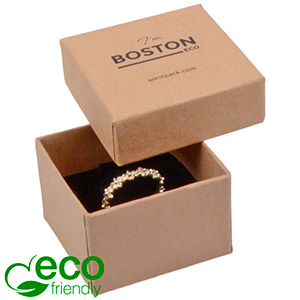 Boston ECO sieradendoosje voor ring Naturel FSC®-gecertificeerd karton/ Karton inleg 50 x 50 x 32