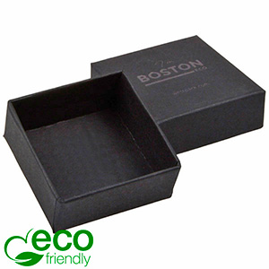 Boston ECO Box for Earrings / Small Pendant Matt Black Paper / Without Insert 50 x 50 x 22