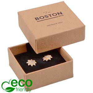 Boston ECO sieradendoosje oorbellen / oorknopjes Naturel FSC®-gecertificeerd karton/ Karton inleg 50 x 50 x 22