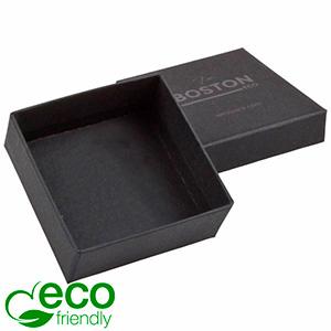 Boston ECO sieradendoosje voor oorbellen / hanger Mat zwart FSC®-gecertificeerd karton/ Zonder foam 65 x 65 x 25