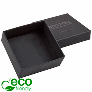Boston ECO Jewellery Box Drop Earrings / Pendant Matt Black FSC®-certified Cardboard / Without Foam 65 x 65 x 25