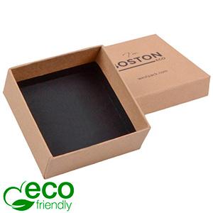 Boston ECO sieradendoosje voor oorbellen / hanger Mat naturel FSC®-gecertificeerd karton/Zonder foam 65 x 65 x 25