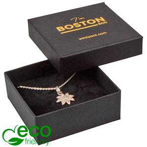 Boston ECO ask till Örhänge/Halsband Matt svart kartong / Svart kartonginsats 65 x 65 x 25