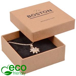 Boston ECO smykkeæske til øreringe / vedhæng Naturfarvet FSC®-certificeret karton/Kartonindsats 65 x 65 x 25