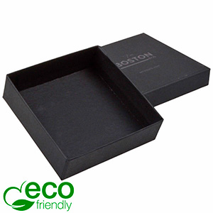 Boston ECO Jewellery Box for Large Pendant/ Bangle Matt Black FSC®-certified Cardboard / Without Foam 86 x 86 x 26