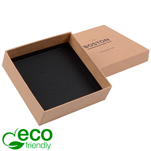 Boston ECO Jewellery Box for Large Pendant/ Bangle Matt Brown FSC®-certified Cardboard / Without Foam 86 x 86 x 26