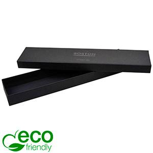 Boston Eco sieradendoosje voor armband Mat zwart FSC®-gecertificeerd karton/ Zonder foam 225 x 50 x 22