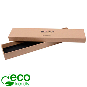 Boston Eco Jewellery Box for Bracelet Matt Brown FSC®-certified Cardboard / Without Foam 225 x 50 x 22