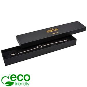 Boston ECO ask till Armband Matt svart kartong / Svart kartonginsats 225 x 50 x 22