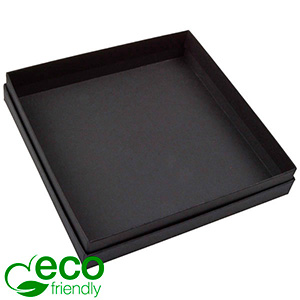 Boston ECO sieradendoosje voor collier / choker Mat zwart FSC®-gecertificeerd karton/ Zonder foam 167 x 167 x 32